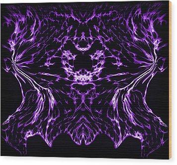 Purple Series 8 Wood Print by J D Owen