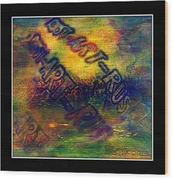 Rust-art 04 Wood Print by Gertrude Scheffler