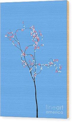 Trees Of Life Wood Print by Charles Dobbs