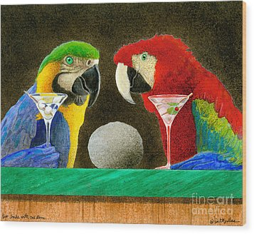 Two Birds With One Stone... Wood Print by Will Bullas