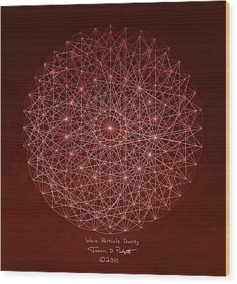 Wave Particle Duality Wood Print by Jason Padgett