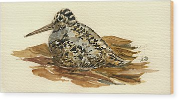 Woodcock Wood Print by Juan  Bosco