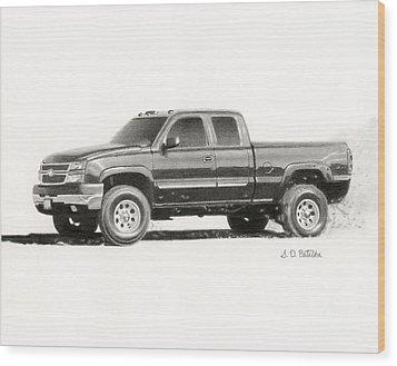 2006 Chevy Silverado 2500 Hd Wood Print by Sarah Batalka
