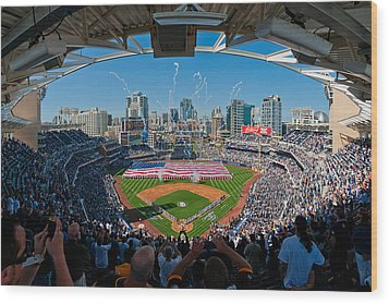 2013 San Diego Padres Home Opener Wood Print by Mark Whitt