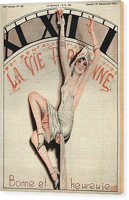 1920s France La Vie Parisienne Magazine Wood Print by The Advertising Archives