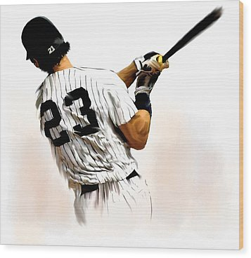 23   Don Mattingly  Wood Print by Iconic Images Art Gallery David Pucciarelli