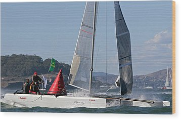 Bay Regatta Wood Print by Steven Lapkin