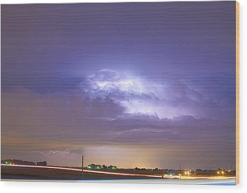25 To 34 Intra-cloud Lightning Thunderstorm Wood Print by James BO  Insogna