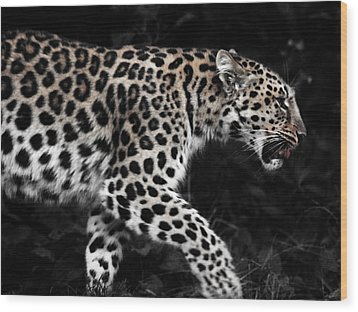 Amur Leopard Wood Print by Martin Newman