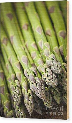 Asparagus Wood Print by Elena Elisseeva