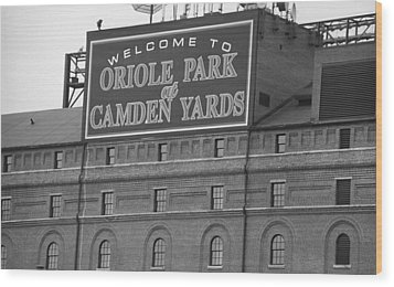 Baltimore Orioles Park At Camden Yards Wood Print by Frank Romeo