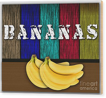 Bananas Wood Print by Marvin Blaine