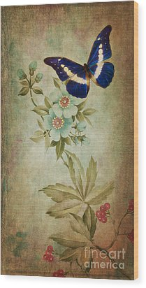 Butterfly Wood Print by Angela Doelling AD DESIGN Photo and PhotoArt