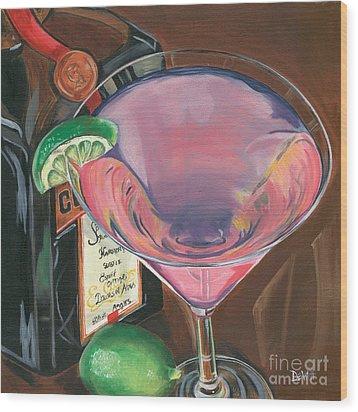 Cosmo Martini Wood Print by Debbie DeWitt