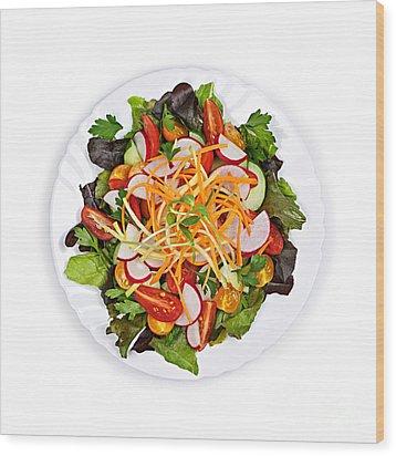 Garden Salad Wood Print by Elena Elisseeva