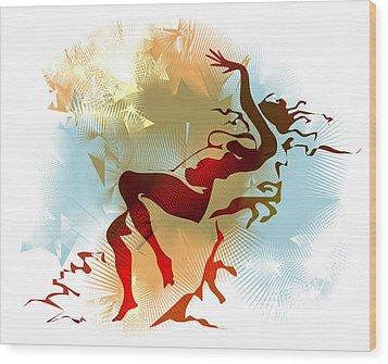 Leda Wood Print by Alex Tavshunsky