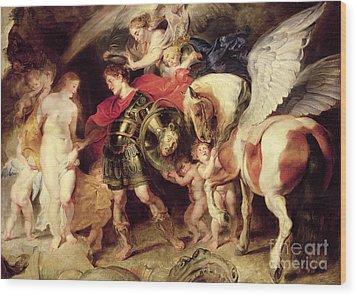 Perseus Liberating Andromeda Wood Print by Peter Paul Rubens
