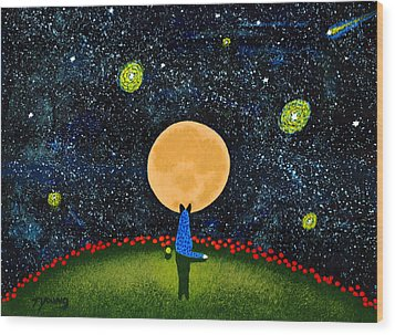 Starry Sky Wood Print by Todd Young