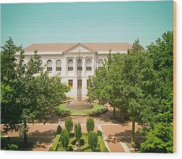 The Old Main - University Of Arkansas Wood Print by Mountain Dreams
