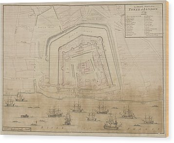 The Tower Of London Wood Print by British Library