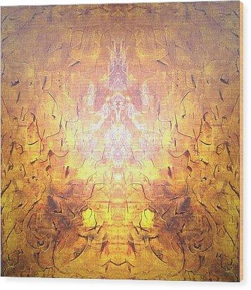 Yellow Wood Print by Pirsens Huguette