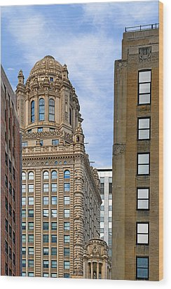 35 East Wacker - Jewelers' Building Chicago Wood Print by Christine Till