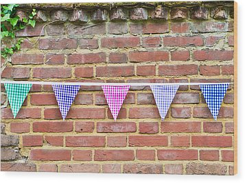 Bunting Wood Print by Tom Gowanlock