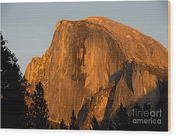 Half Dome, Yosemite Np Wood Print by Mark Newman