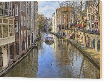 Utrecht Wood Print by Joana Kruse