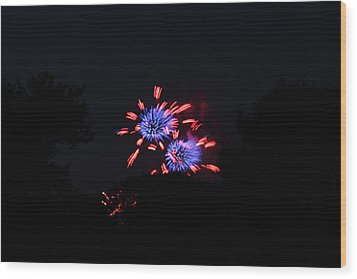 4th Of July Fireworks - 011324 Wood Print by DC Photographer