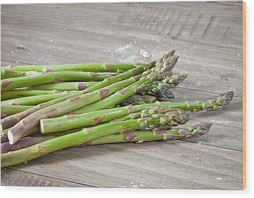 Asparagus Wood Print by Tom Gowanlock