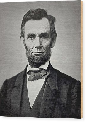 President Abraham Lincoln Wood Print by Retro Images Archive