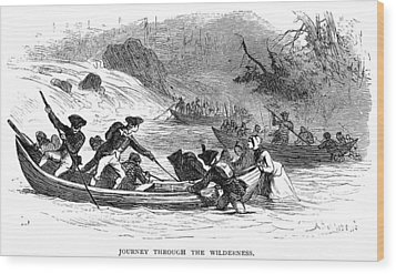 Quebec Expedition, 1775 Wood Print by Granger