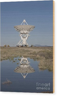 Very Large Array Wood Print by Steven Ralser