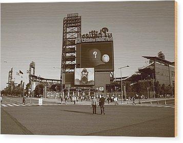 Citizens Bank Park - Philadelphia Phillies Wood Print by Frank Romeo