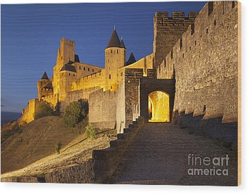 Medieval Carcassonne Wood Print by Brian Jannsen