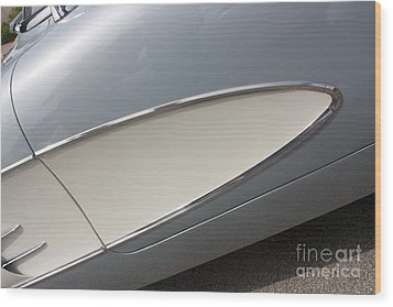 61 Corvette-grey-sidepanel-9244 Wood Print by Gary Gingrich Galleries