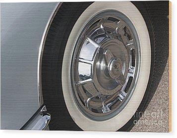 61 Corvette-grey-wheel-9236 Wood Print by Gary Gingrich Galleries