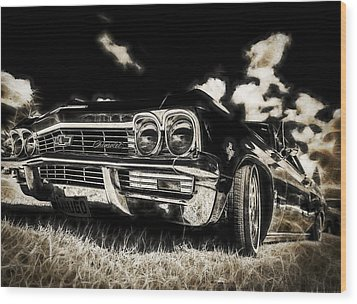 65 Chev Impala Wood Print by motography aka Phil Clark