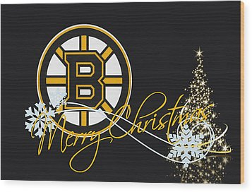 Boston Bruins Wood Print by Joe Hamilton