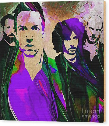 Coldplay Collection Wood Print by Marvin Blaine