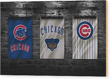 Chicago Cubs Wood Print by Joe Hamilton
