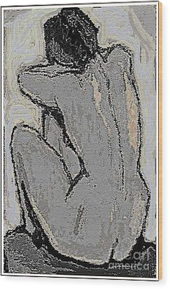 Alone With Grief Wood Print by Pemaro