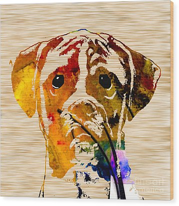 Boxer Wood Print by Marvin Blaine