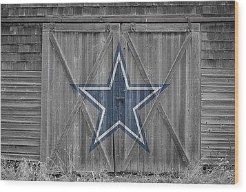 Dallas Cowboys Wood Print by Joe Hamilton