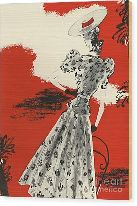 WomenÕs Fashion 1930s 1939 1930s Uk Wood Print by The Advertising Archives