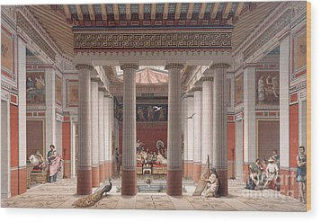 A Banquet In Ancient Greece Wood Print by Nordmann