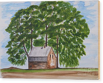 A Beautiful Place On Earth Wood Print by Christine Huwer