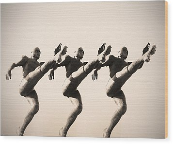 A Chorus Line Wood Print by Bill Cannon