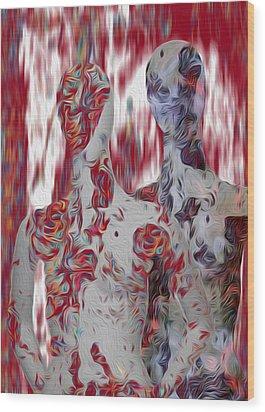A Couple Wood Print by Jack Zulli